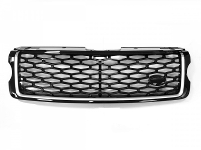 L405 SVO Look Front Grille Black with Silver trim to fit Range Rover Vogue L405 2013 Onward
